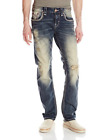 Rock Revival Mens Straight Fit Jean Vintage Blue 32