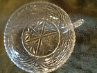 Anchor Hocking Stars and Bars Nappy Lemon Dish Bowl Trinket Soap  Vintage