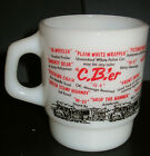 Anchor Hocking Fire King Mug C.B.'er  Vintage 1970s