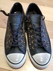 Converse CT Chuck Taylor All Star Ox Studded Leather Sneakers 140012C Black 75M