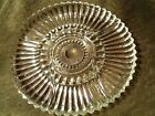 Insert Relish Platter Round Tray Pattern Glass Divided 5 compartment 11-3/4