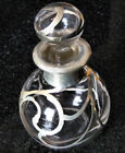 Antique Exquisite Sterling Silver Overlay Perfume Bottle Art Nouveau Lot #7