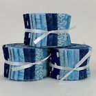 Assorted Blue Jelly Roll 20 25 Strip 100 Cotton