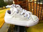 Converse All Star OX Toddler Girls White Iridescent Sneakers Infant Size 5c NICE