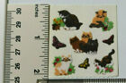 Sandylion FUZZY CATS  BUTTERFLIES 1 Square RARE RETIRED Stickers LIMITED