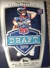 2010 Tim Tebow Topps NFL Draft Logo Patch Rookie Card