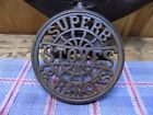 SUPERB  Stoves and Ranges parlor stove swing cover trivet cast iron Round Oak 7