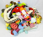 Lot 50 Dog Puppy Toys Balls Chew Rubber Squeaky Rings Ropes Martha Stewart NEW