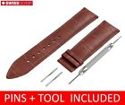 For Tudor  Watch Brown Leather Strap/Band Clasp 18 19 20 21 22mm