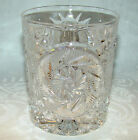 Vintage Pressed Glass Double Old Fashioned Whiskey Glass Tumbler