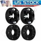 4 15 5x5 Hubcentric Black Wheel Spacers 1 2 x20 For Jeep Wrangler JK
