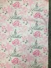 New Cotton Flannel Ballet Slippers Pink Roses Musical NotesBallerina