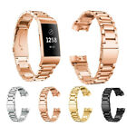 Stainless Steel Watch Band Wrist Strap+Connector for Fitbit Charge 3 Adjuste