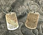 Dog Tag Keychain Mother Son