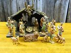 Vintage Fontanini nativity set 16 figurines with manger