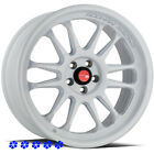 Aodhan AH07 Wheels White 18 x85 95 +30 Staggered Rims 5x45 05 Ford Mustang GT