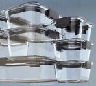 Rubbermaid 18 pc Food Storage Containers Set Clear Plastic Brilliance
