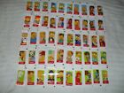 02 Topps THE SIMPSONS STICKERS Complete MINI STICKER SET (50)