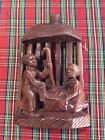 Vintage Hand Carved Wood African Nativity