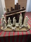 Vintage Large Lefton Nativity Creche And Figures