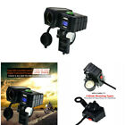 12V Motorcycle GPS Phone Dual USB Power Socket Charger+Voltmeter+Switch+Compass