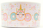 Grosgrain Doughnut Unicorn 3 Inch Printed Grosgrain Ribbon 1 35 Yds