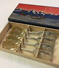 Boxed Set of 4 SWEDISH 1945 Solid 830 Silver LAPLAND Wedding SPOON Sweden