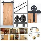 Barn Door Hardware Single Steel Sliding Kit Track Rail Set Country Style 6.6ft