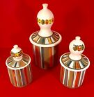 MCM Ceramic Three Piece Kitchen Canister Set Bitossi Italy for Raymor RARE