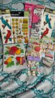 Lot of Packs Of Scrapbook Stickers K  Co Chart Pak Stain Glass Jolees  More
