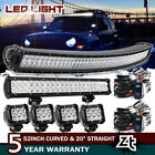 50 Curved Led Light Bar + 20 22+4 Pods Cube Combo Kit For 07 17 Jeep Patriot