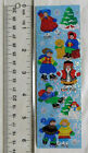 Sandylion WINTER TIME FAMILY FUN Strip of VINTAGE RETIRED VERY RARE Stickers