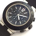 Bulgari Diagono Large Automatic Chronograph AC44TA Carbon Dial Big size 44 mm