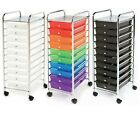 10 Drawer Rolling Scrapbook Paper Storage Organizer Cart Office School Tools
