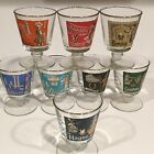 Vintage Libbey International Cities of the World Footed Cocktail  Glasses