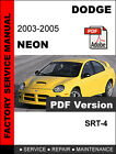DODGE NEON SRT4  2003 2004 2005 SERVICE REPAIR WORKSHOP MANUAL