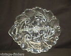 Old Vintage Clear Glass Divided Relish Serving Dish w Scalloped Edges MCM