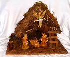 FONTANINI Starter 5 Nativity SetWooden StableHoly Family  Angel md in Italy