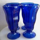 Dessert Ice cream Sundae Cups / Dishes Cobalt Blue Set of 4 Home Kitchen Dining