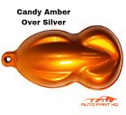 Candy Amber Over Silver Basecoat Quart Car Vehicle Motorcycle Auto Paint Kit