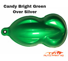 Candy Bright Green Over Silver Basecoat Quart Vehicle Motorcycle Auto Paint Kit