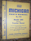 CLARK MICHIGAN MODEL 280 SERIES I TRACTOR DOZER FACTORY PARTS MANUAL 1754