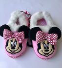 Disney Minnie Mouse Pink Slippers Girl Size 7 8 9 10 11 12 House Shoes Fun Gift