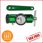 Mini O2 Oxygen Tank Regulator Gauge Medical Barb Flow Rate 0 15lpm W Wrench NEW