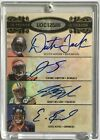 2008 UD Octograph Jordy Nelson Auto 3 8 Eddie Royal Jerome Simpson Donnie Avery