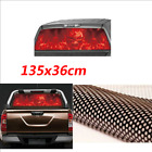 New Design 135x36cm Red Flaming Skull Rear Window Sticker for Truck suv Jeep