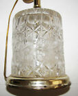 CRYSTAL CUT GLASS LAMP FANCY DESIGNS HEAVY AND THICK BEAUTIFUL VINTAGE LAMP BASE