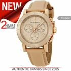 Burberry Unisex Watch BU9704¦Chronograph Rose Gold Dial¦Nude Cream Leather Strap