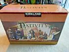 Kirkland Signature Hand painted Fabric mache Antiqued 20 Piece Nativity Set