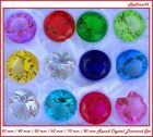 Fancy Round Cut Crystal Glass Diamond Paperweight Box Set 12 PCS 30 80 mm